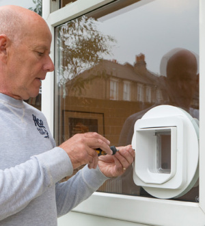 Catflap fitter