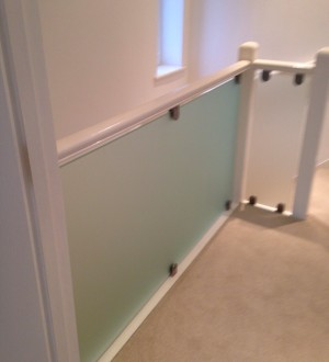 satin glass balustrade