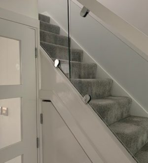 glass balustrade in house