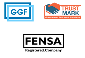 GGF, Trust Mark, FENSA Registerred, Construction Line